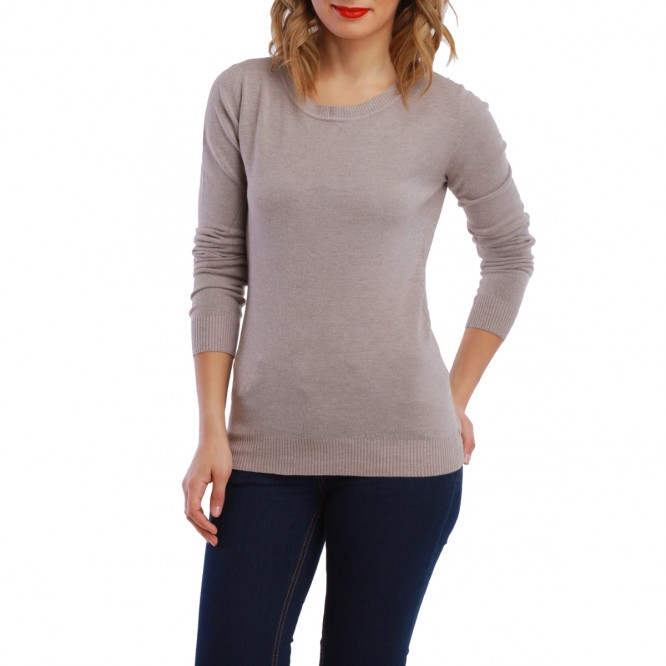 Pull détail nœud taupe