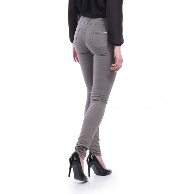 Pantalon coupe slim kaki