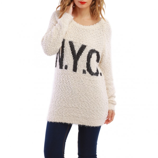 Pull long NYC beige