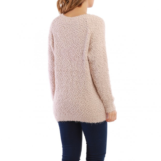 Pull long NYC taupe