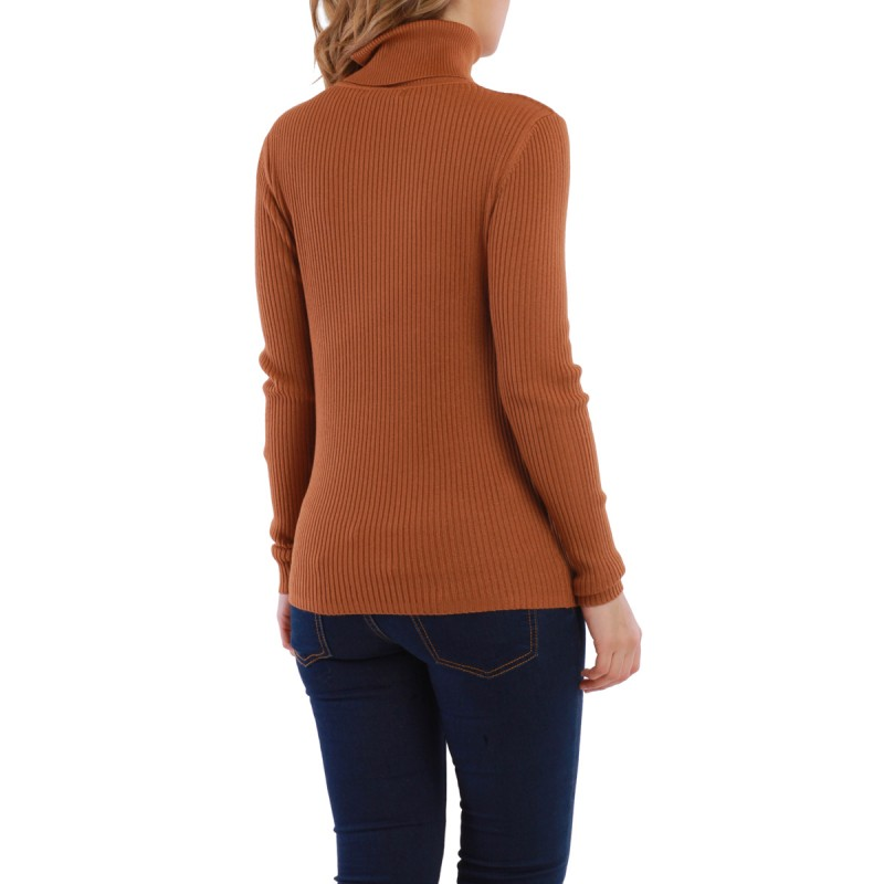 Pull col roul camel femme pas cher la modeuse for Pull camel femme
