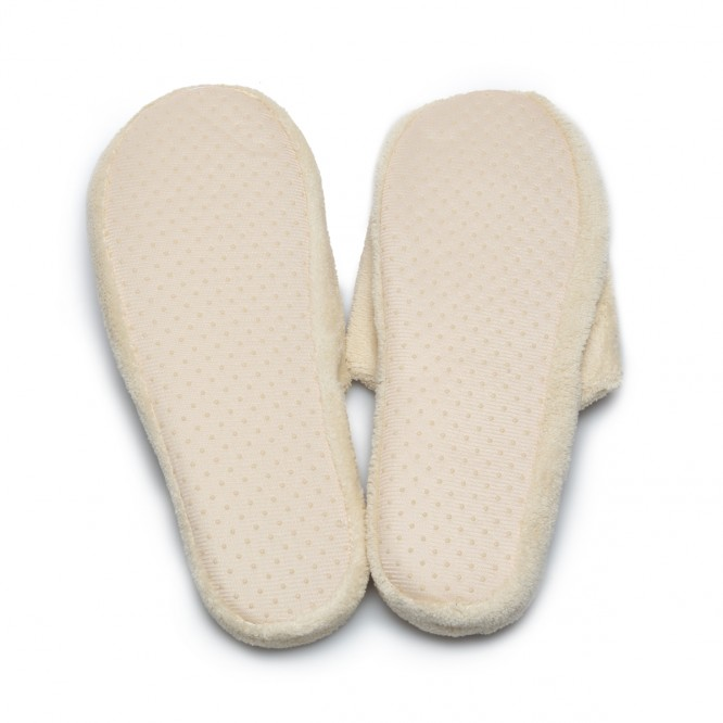 Chaussons cocooning beige