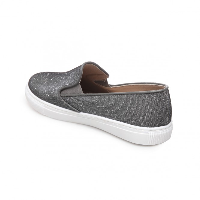 Baskets slip-on à fil métallique gris