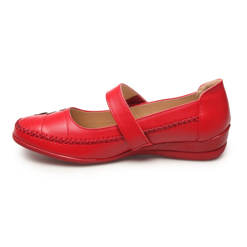 Babies grande taille simili cuir rouge