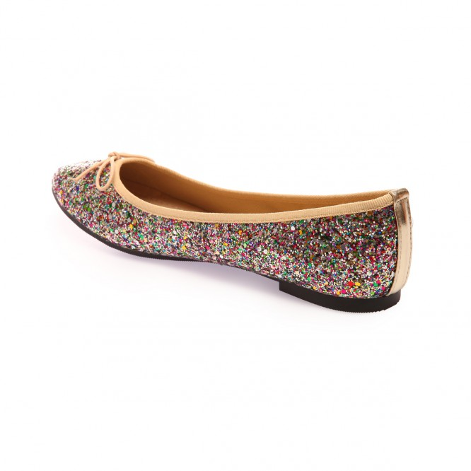 Ballerines pailletées multicolore