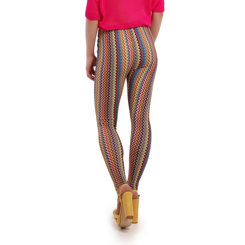 Legging multicolore zigzag