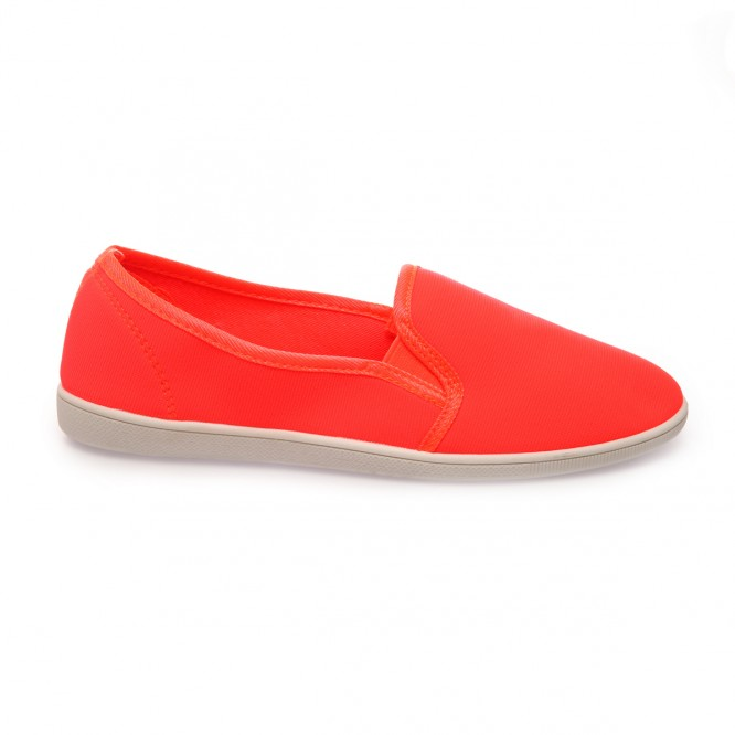 Slip-on orange fluo souple