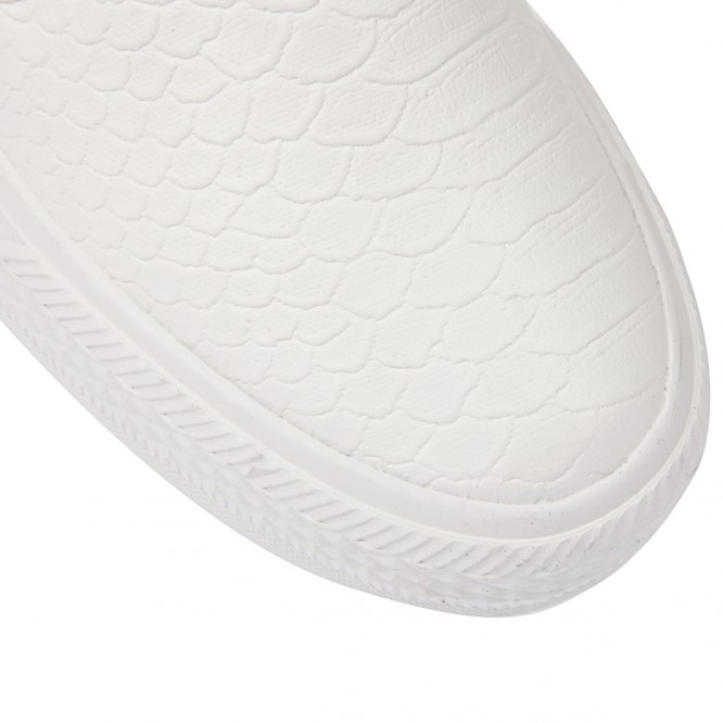 Slip-on aspect peau de serpent blanc