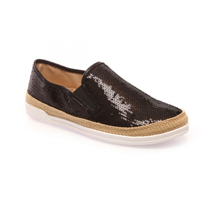 Slip-on noires à sequins