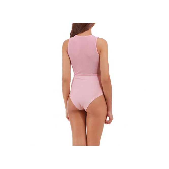 Body jeu de transparence rose
