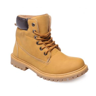 Bottines rangers camel