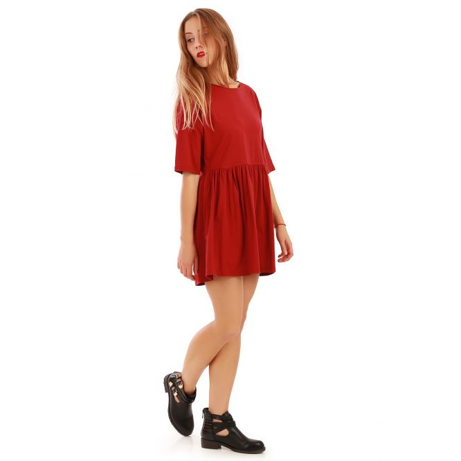 Robe patineuse bordeaux oversize