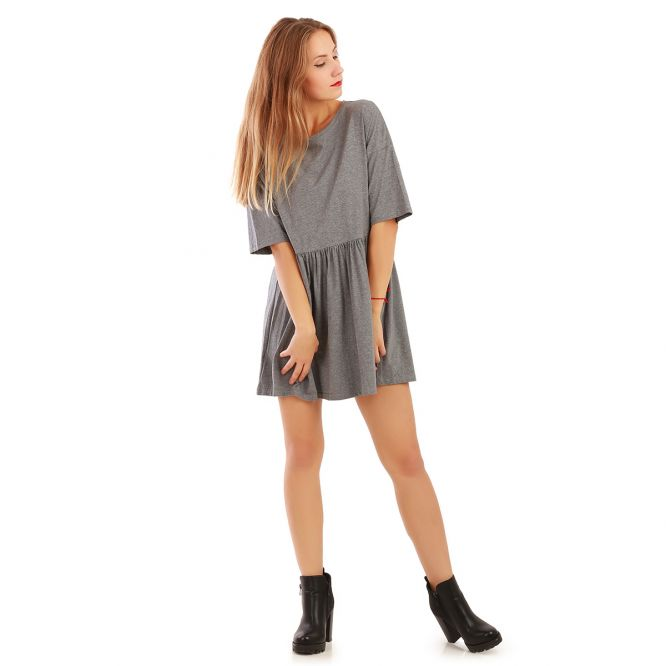 Robe patineuse grise oversize