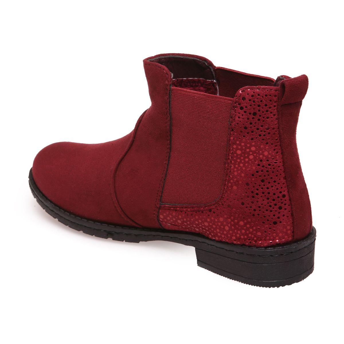 bottines chelsea rouges talon scintillant pas cheres