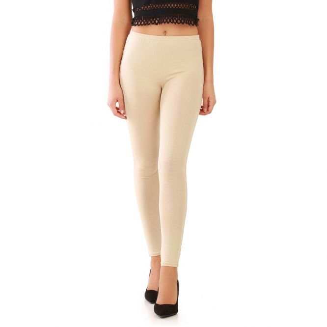 Leggings uni beige