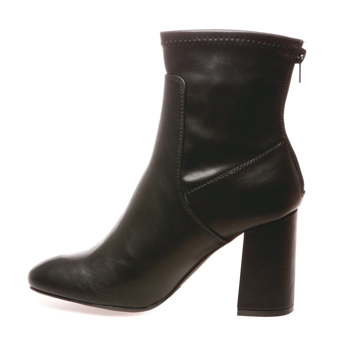 Bottines simili cuir noires à talons