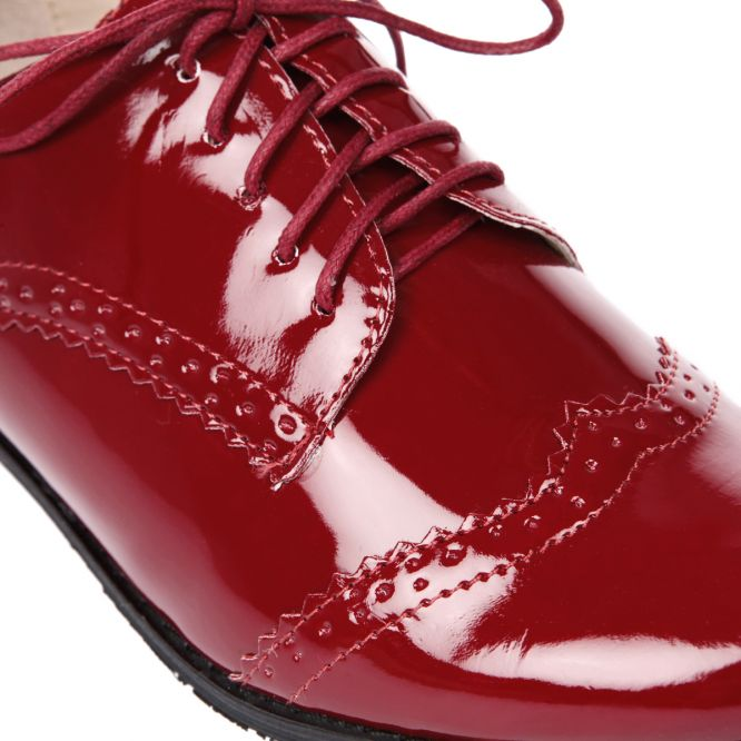 Derbies vernis bordeaux