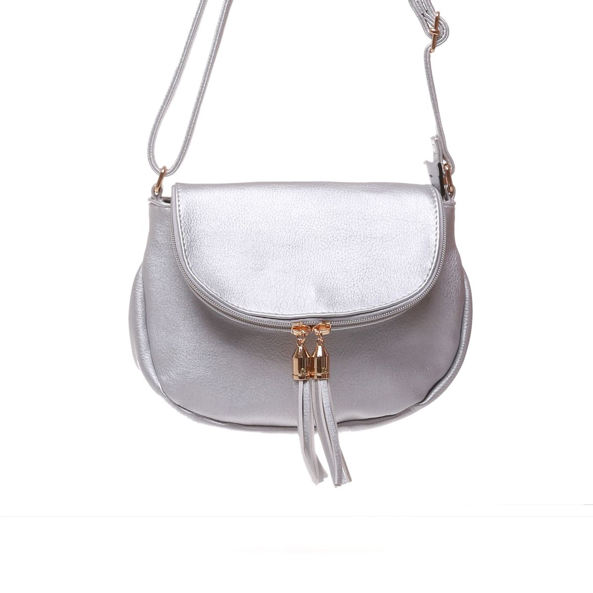 Sac besace Darling argent