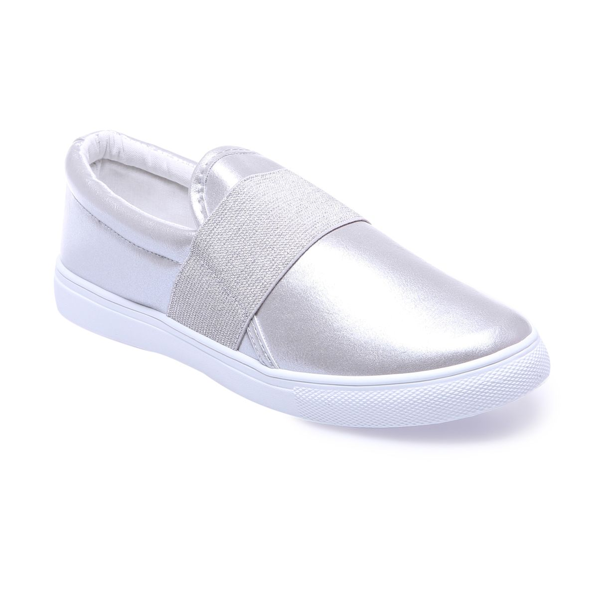 La Modeuse - Baskets de type slip-on aspect cuir kyXMw