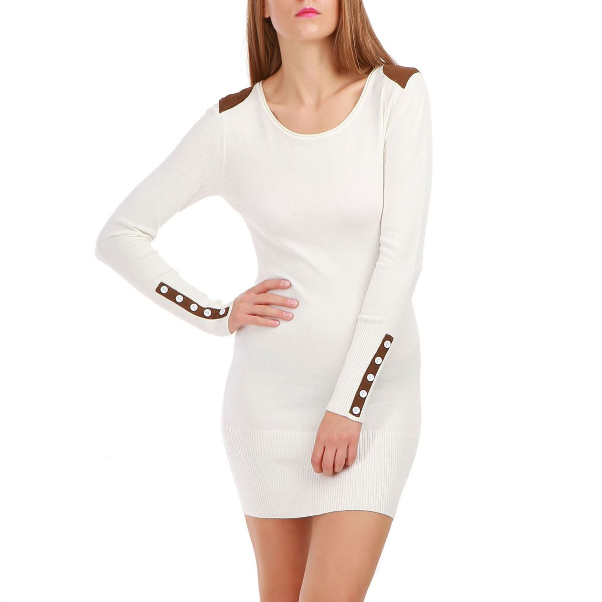 Robe pull blanche pas cher