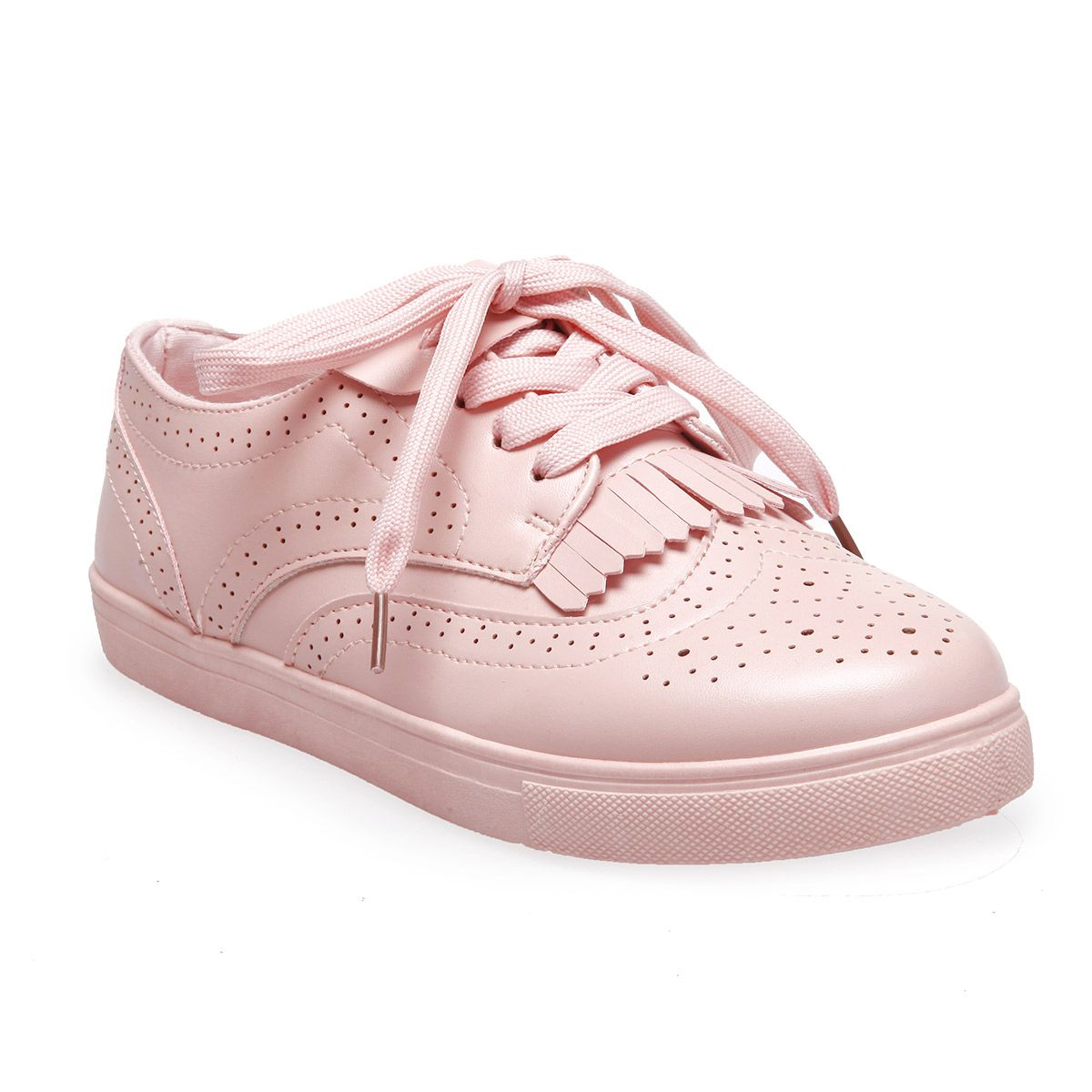 La Modeuse Baskets roses irisées à strass Rose - Chaussures Baskets basses Femme