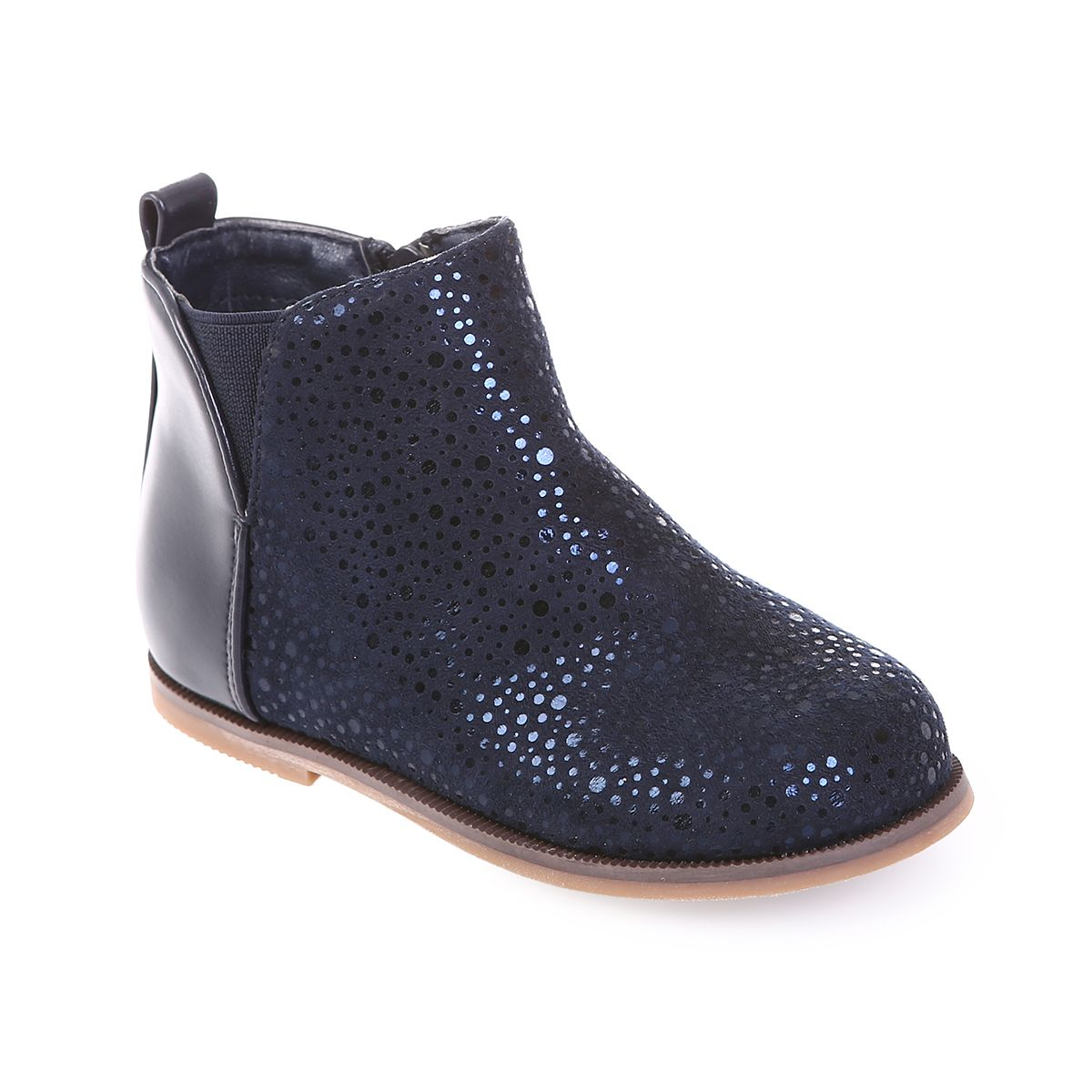 Bottines bleues marines enfant à paillettes et fantaisies. Loading zoom 1a7bf2d66e68