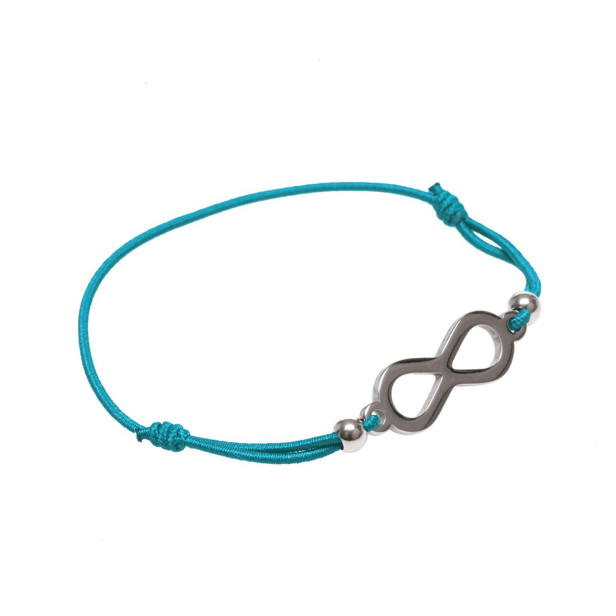 bracelet cordon turquoise avec signe infini femme pas cher lamodeuse. Black Bedroom Furniture Sets. Home Design Ideas