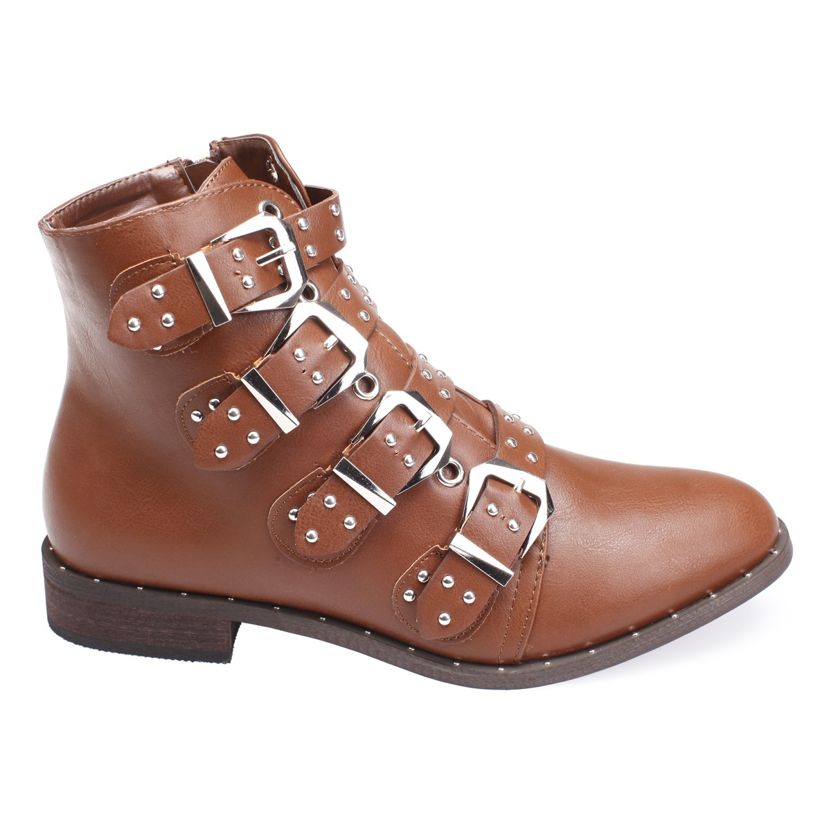 Bottines MARRON avec boucles 9BLDTc