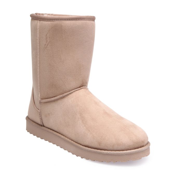 Boots taupe fourrées grande taille
