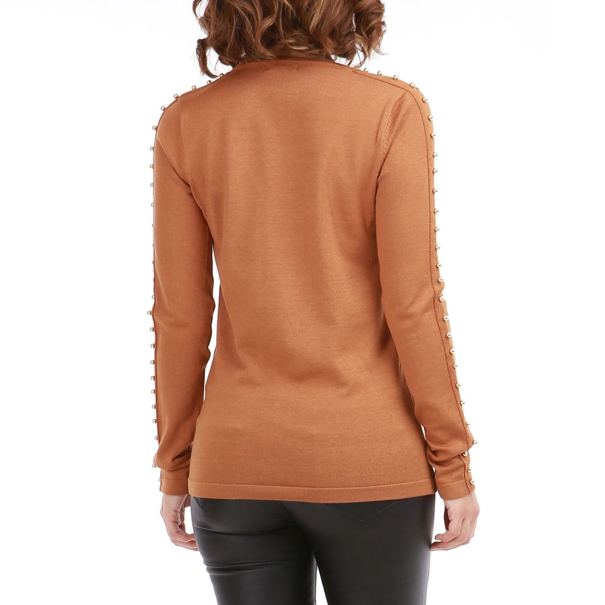 Pull camel perles m talliques femme pas cher la modeuse for Pull camel femme