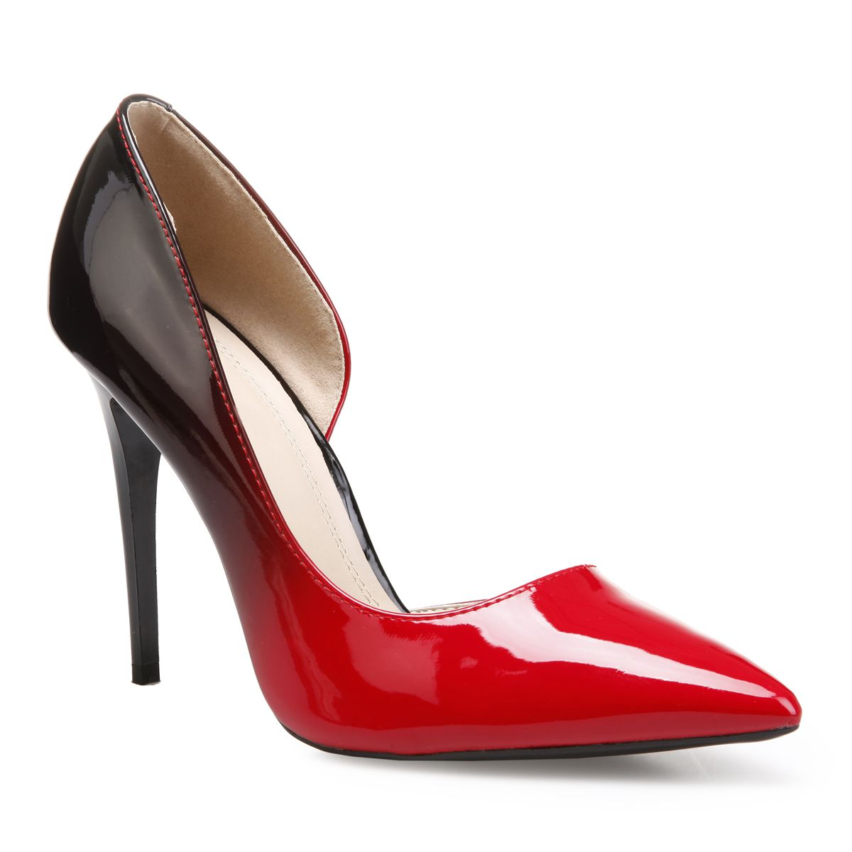 Stilettos vernis rouges pointus