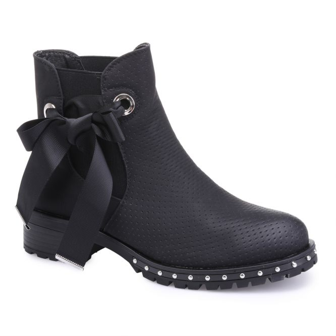 Bottines chelsea noires à lacets