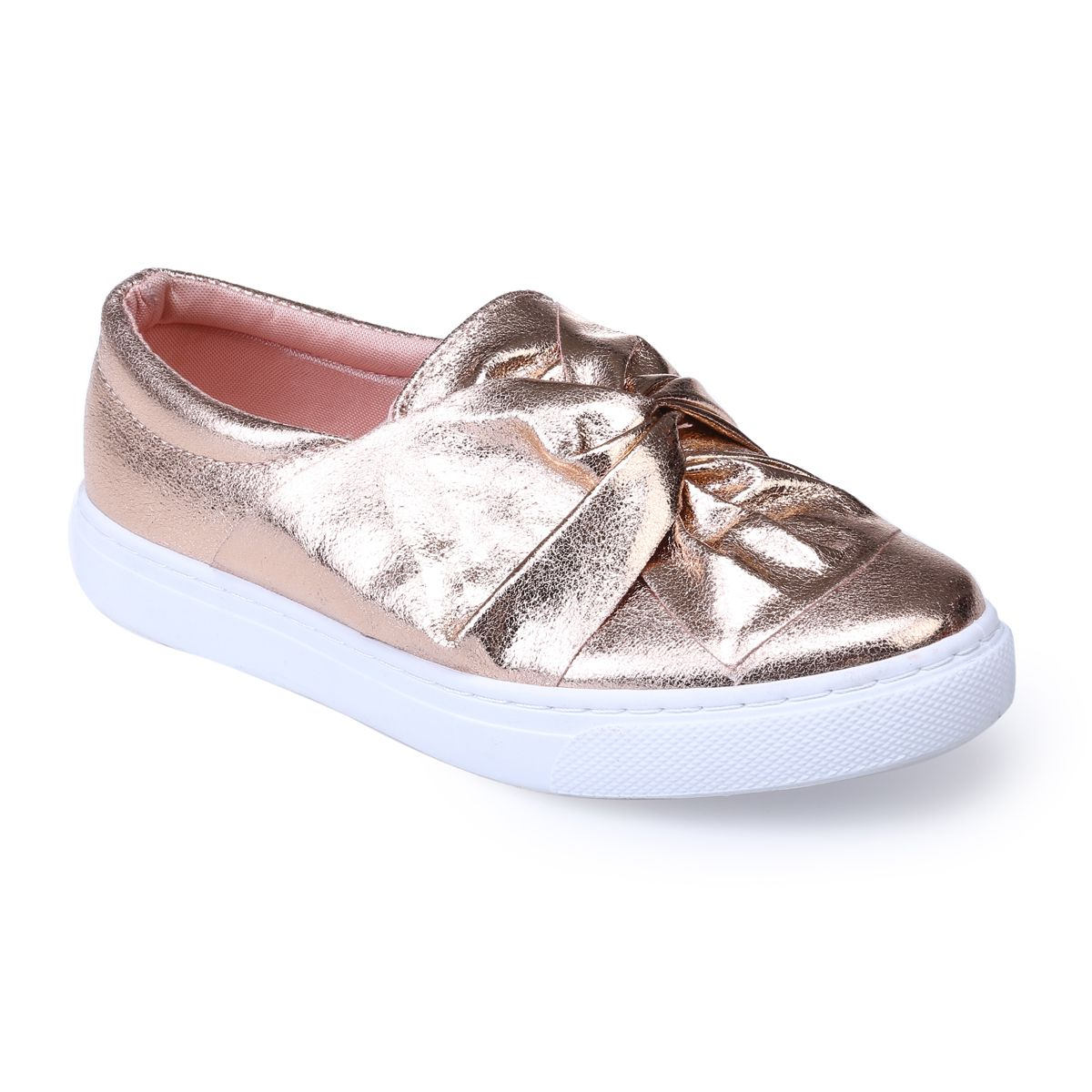 Slip-on doré rose brillantes
