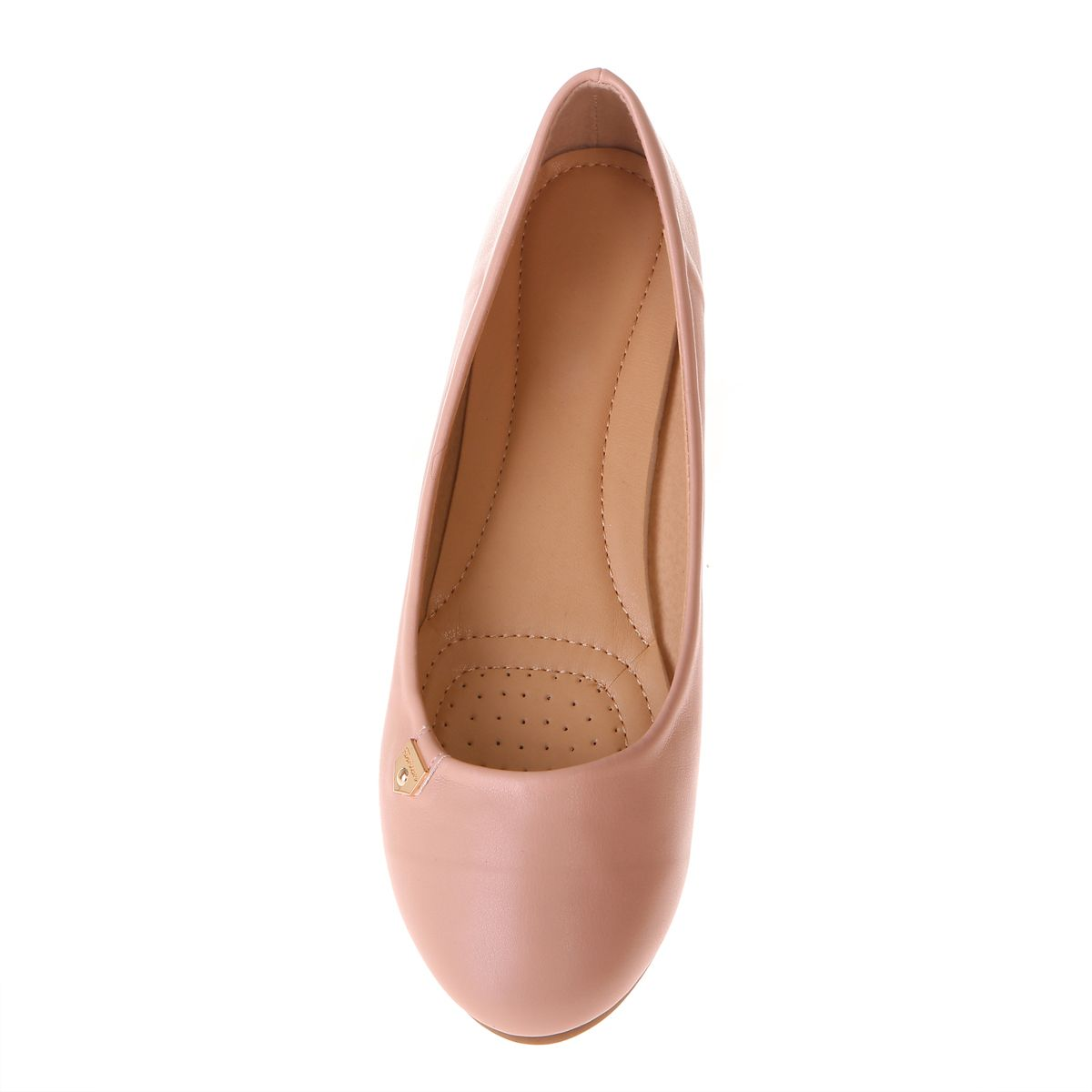 "Ballerines roses inscription ""fashion"" grandes tailles"