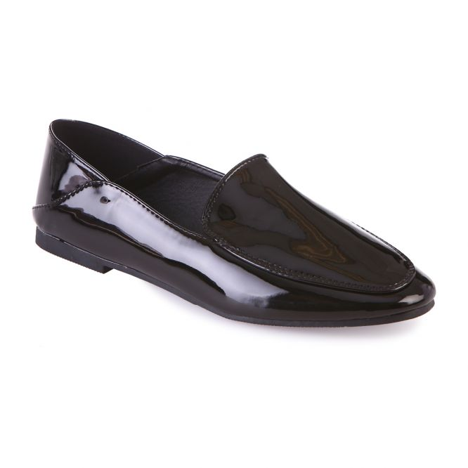 Slippers vernis noirs