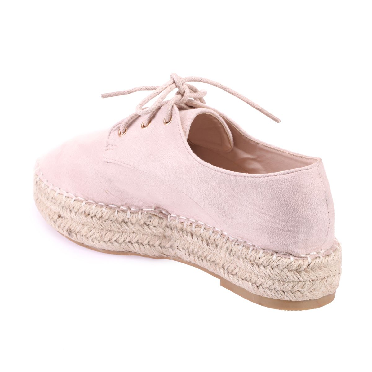 Derbies nude type espadrilles