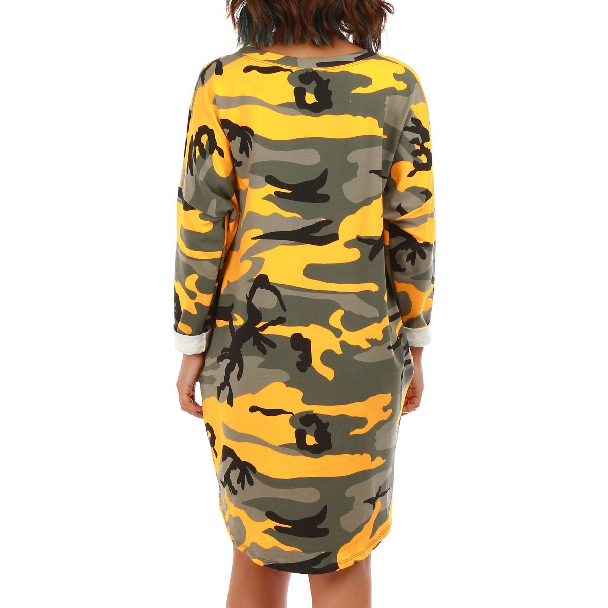 Robe sweat camouflage kaki