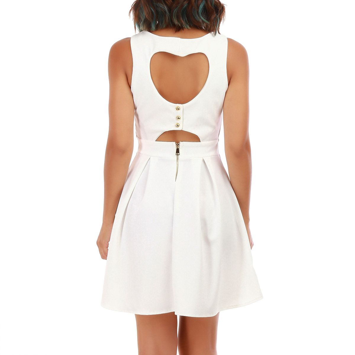 Robe coeur patineuse blanche