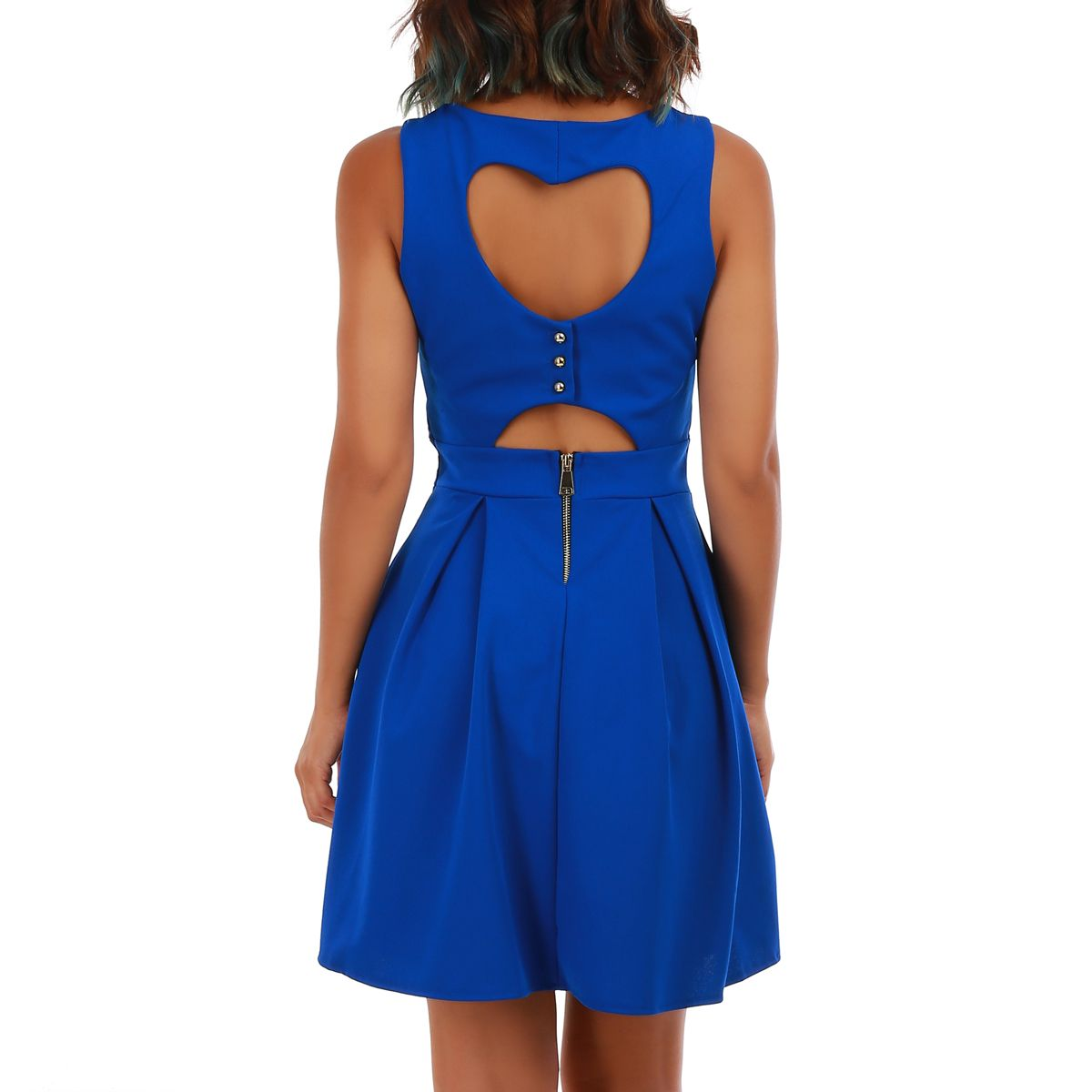 Robe coeur patineuse bleue