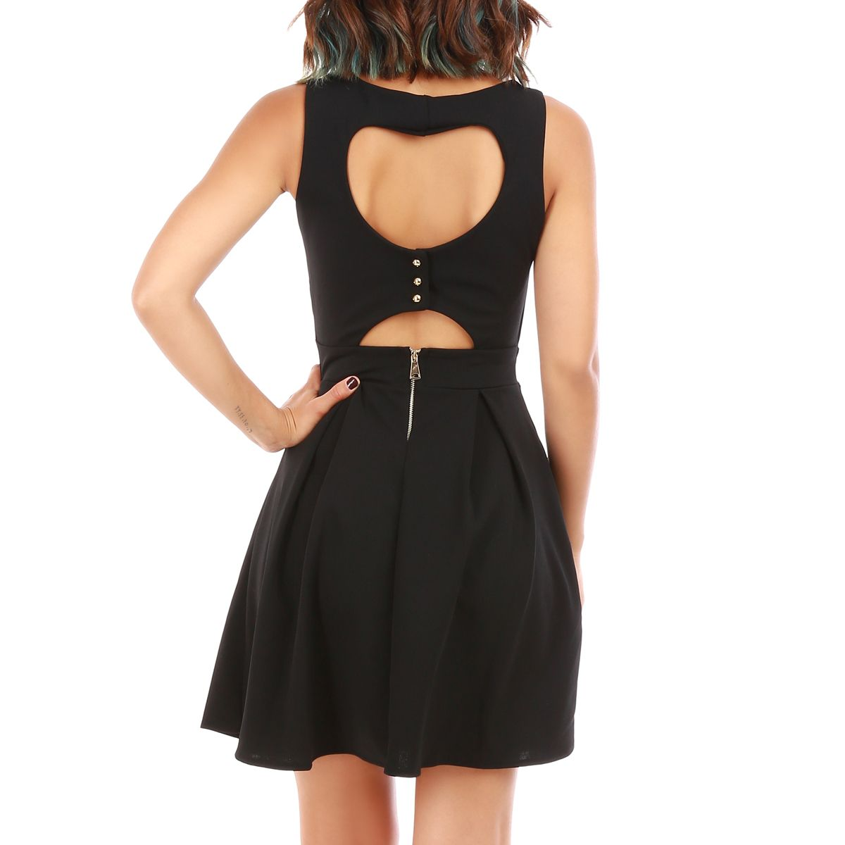 Robe coeur patineuse noire