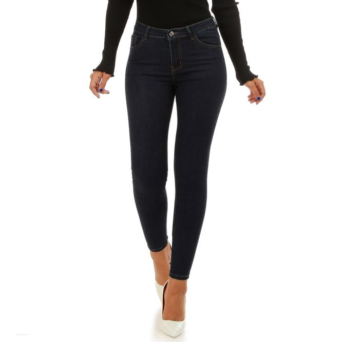 Jeans slim bleu brut push-up