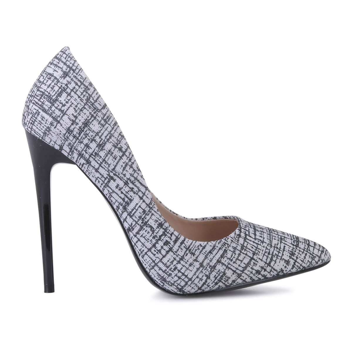 Stilettos noirs en tweed pailletées