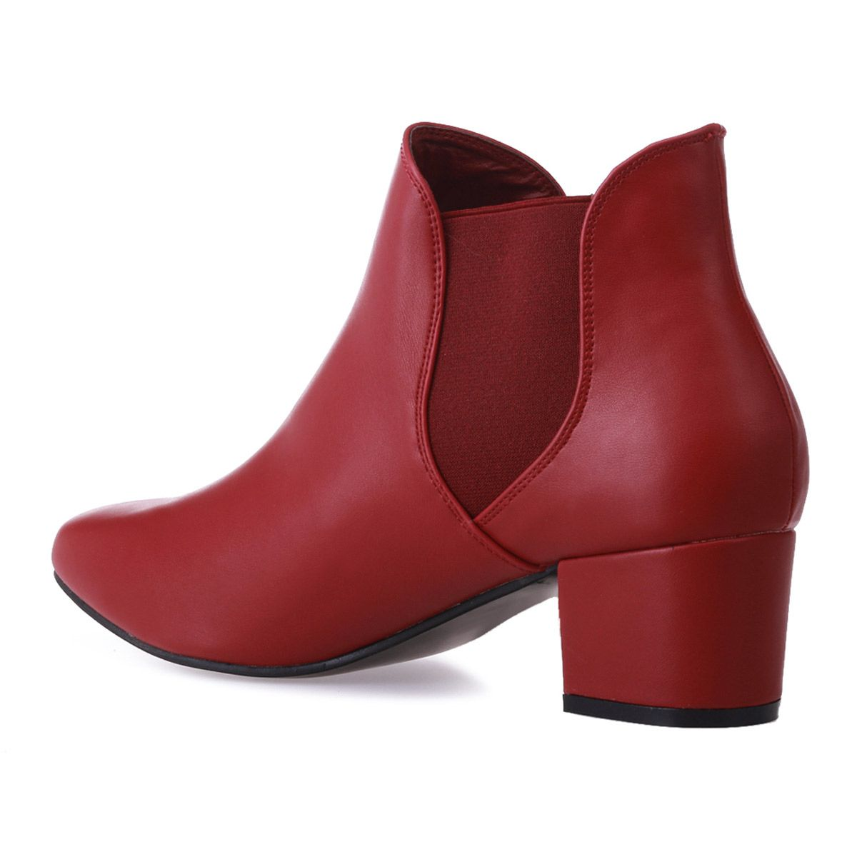 Bottines chelsea rouges grande taille