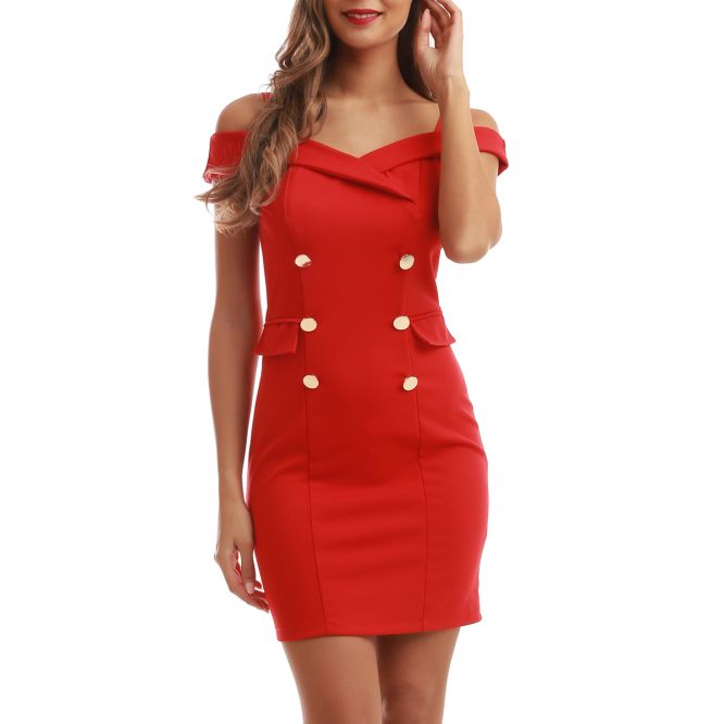 Robe style officier rouge