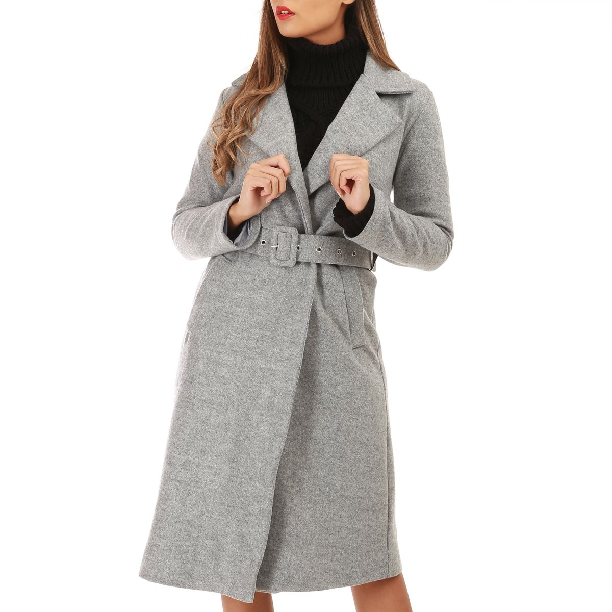 outlet on sale how to buy watch Manteau léger mi-long gris