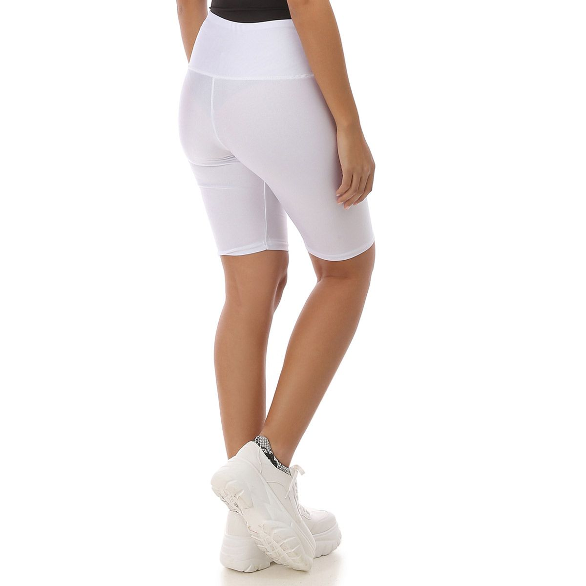 Short legging blanc satiné