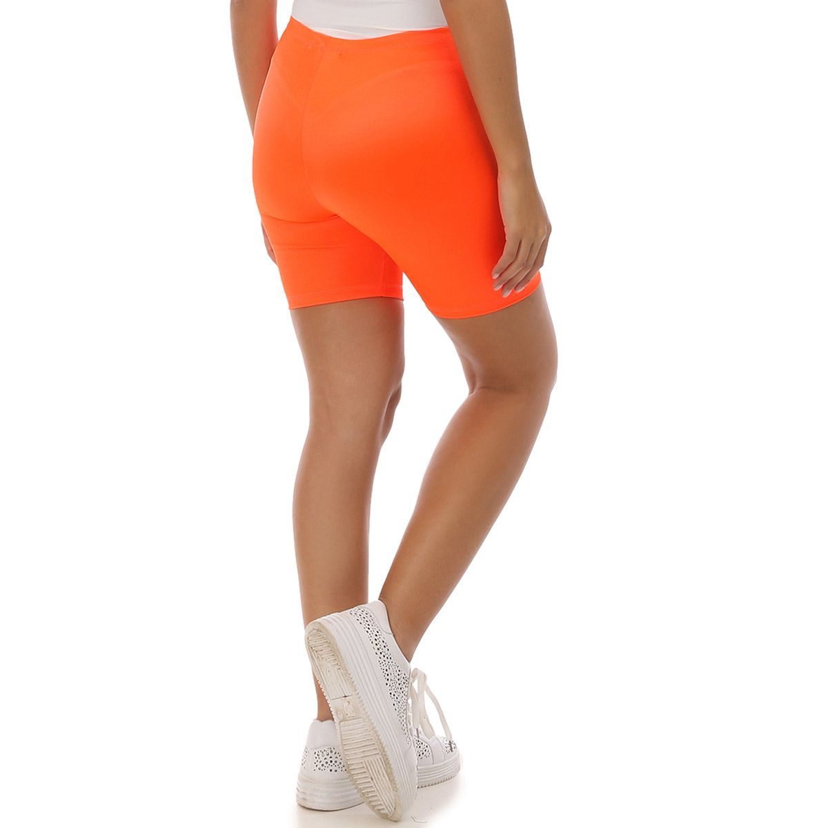 Short cycliste court orange fluo
