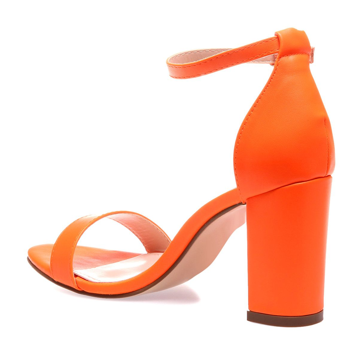 Sandales Orange Simili Fluo Cuir En FuJ31T5lKc