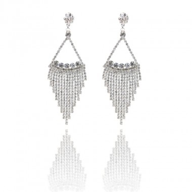 Boucles triangle & strass