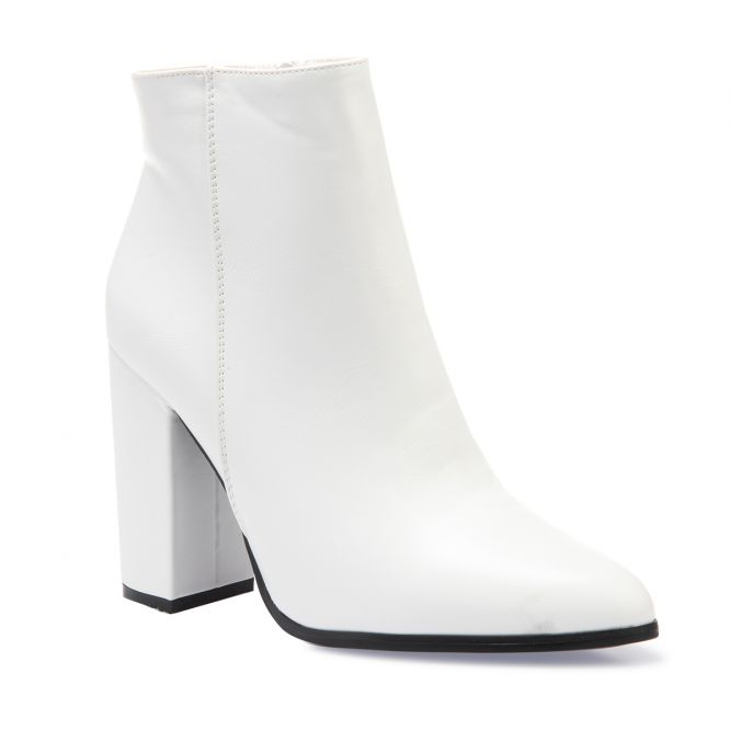 bf0e13e7f Bottines blanches en simili...
